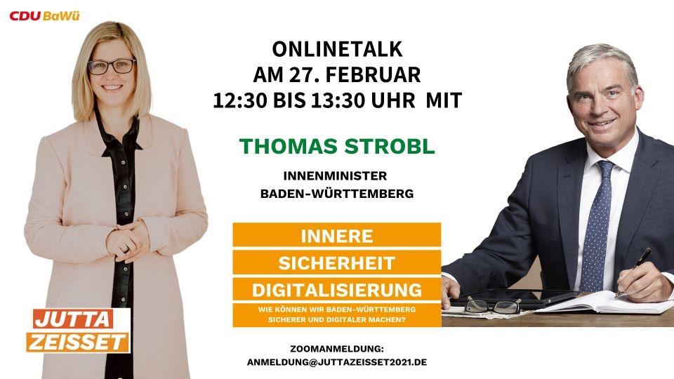 Jutta Zeisset: OnlineTalk mit Innenminister Strobl zu Innerer Sicherheit, Feuerwehr & DRK