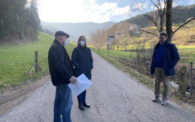 On Tour im Zweitälerland – Jutta Zeisset informierte sich in Winden im Elztal über die Flurbereinigung